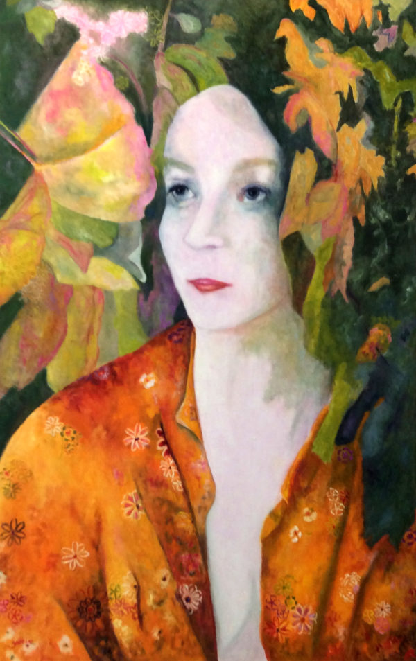 Geisha, 2019, Huile sur toile, 110 x 70 cm