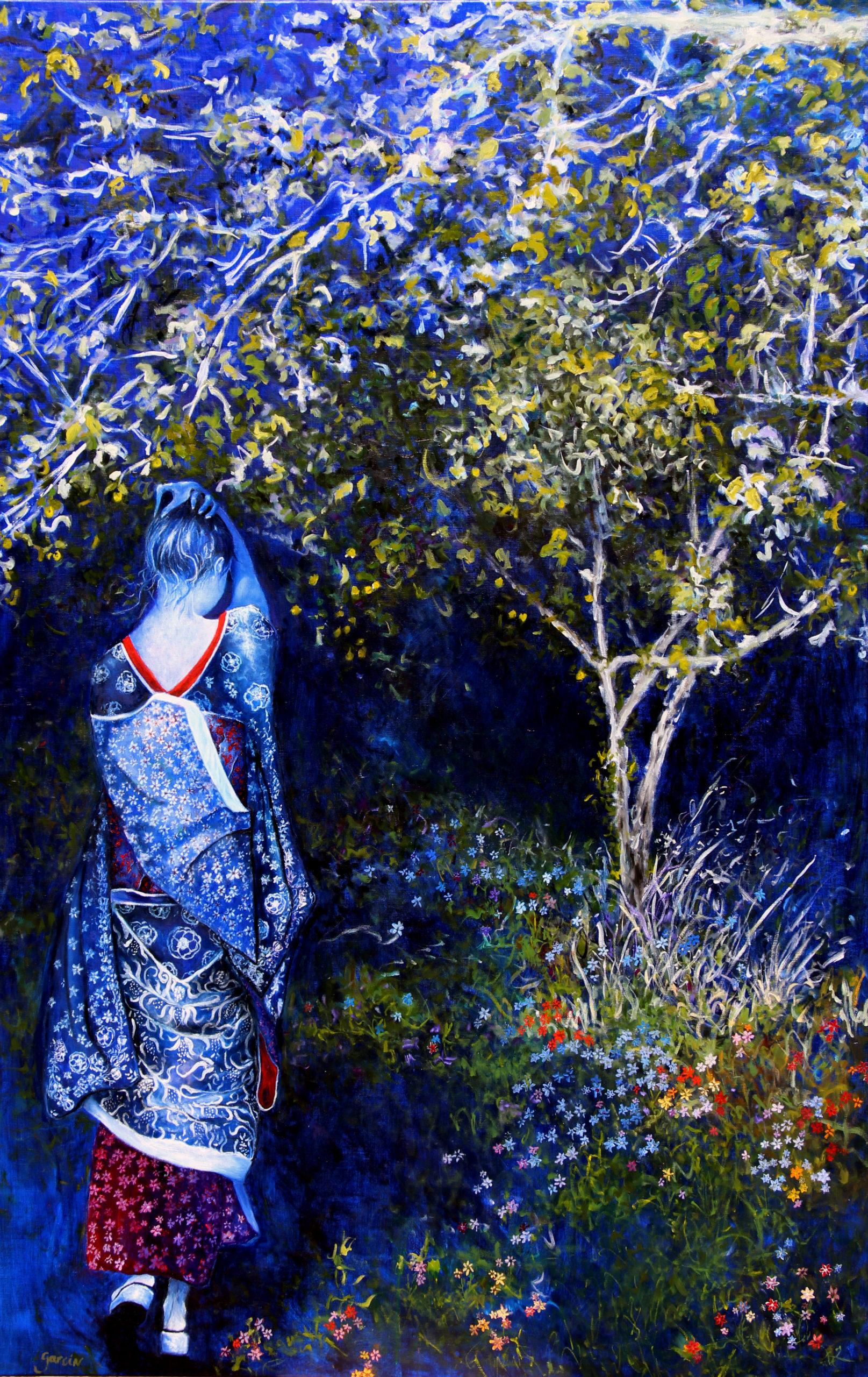 Claire de lune, 2020, huile sur toile 160 X 100 cm