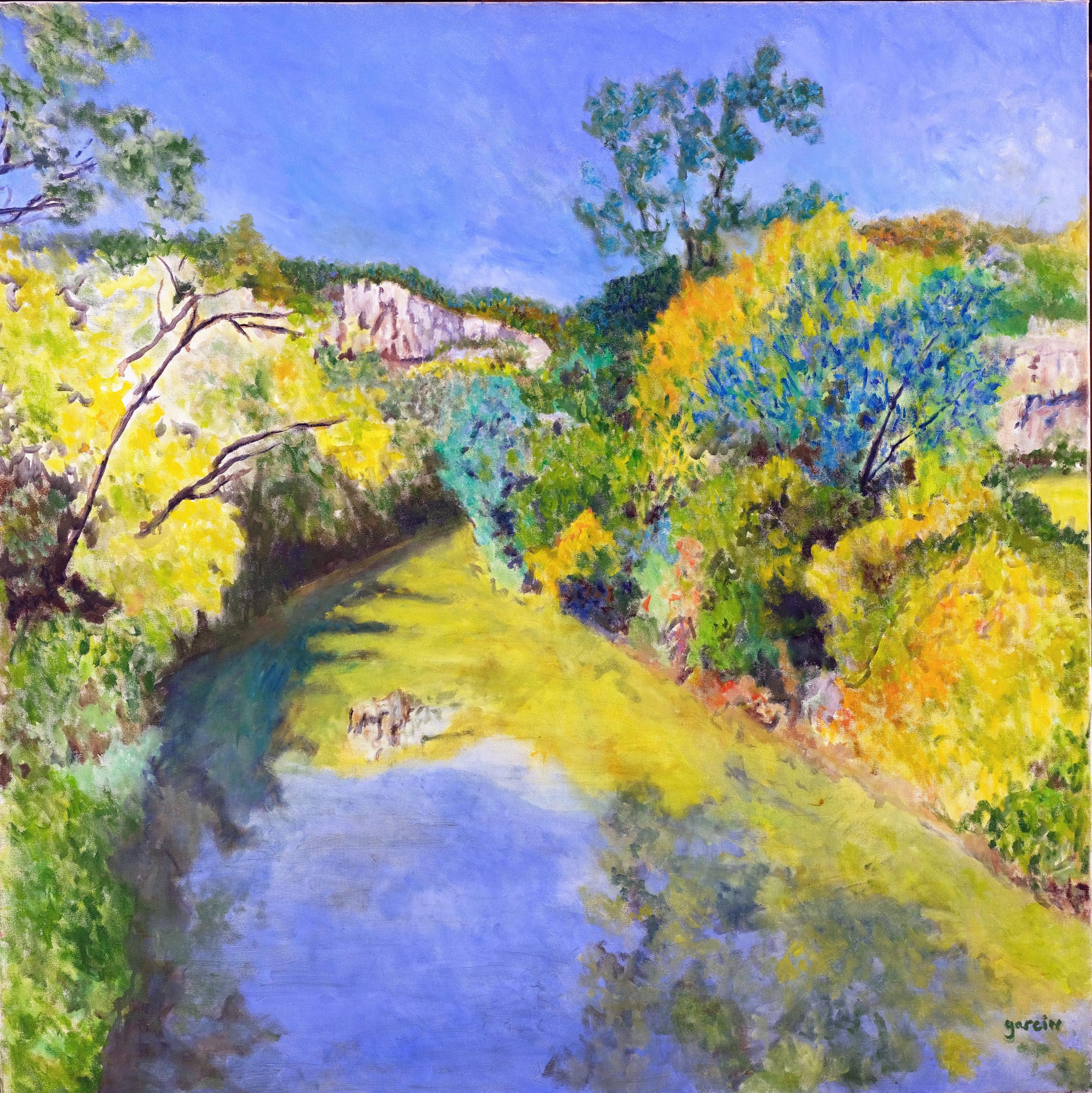 Dordogne, 2015, huile sur toile 100 X 100 cm