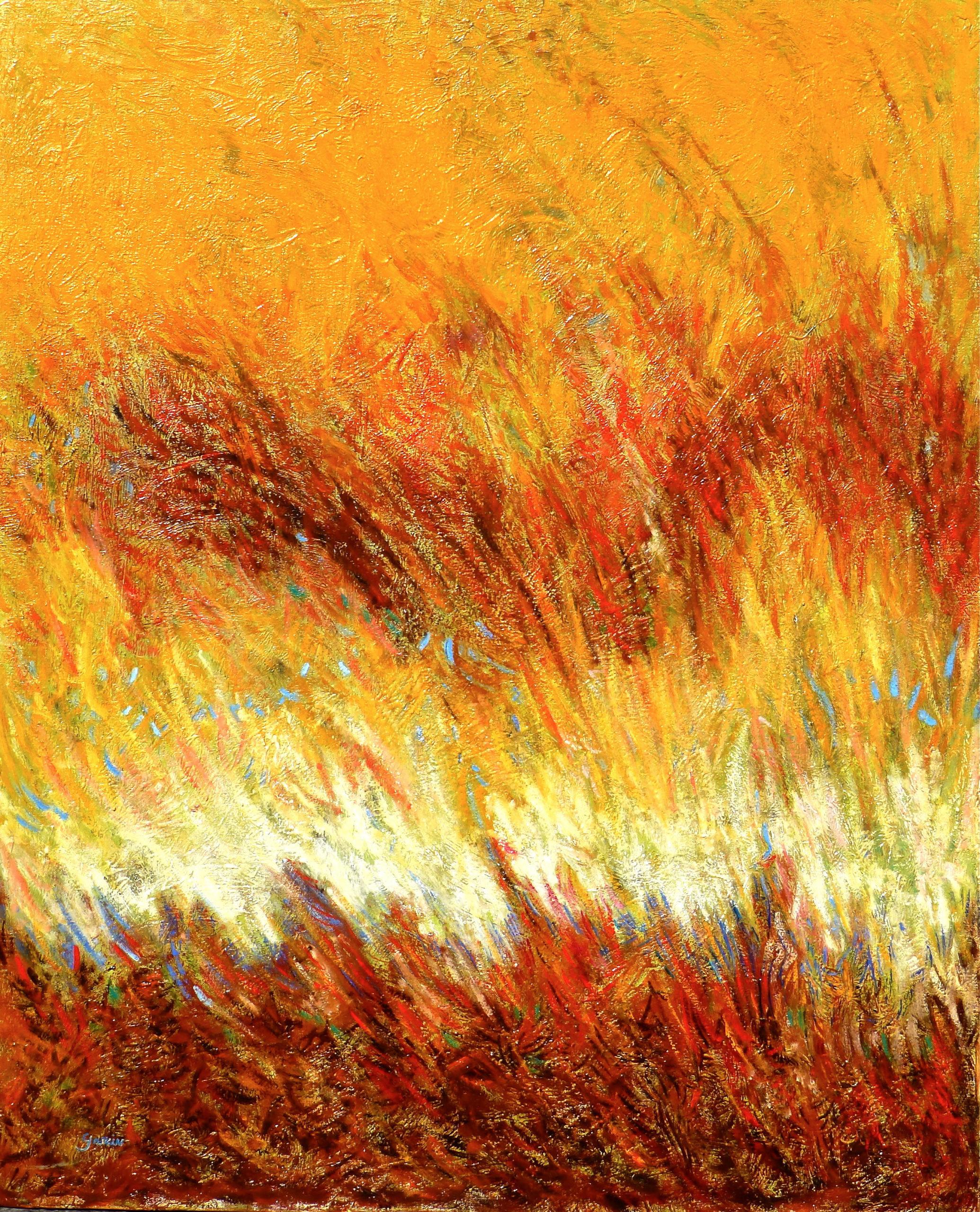 ETE, 1994, huile sur toile 100 X 81 cm