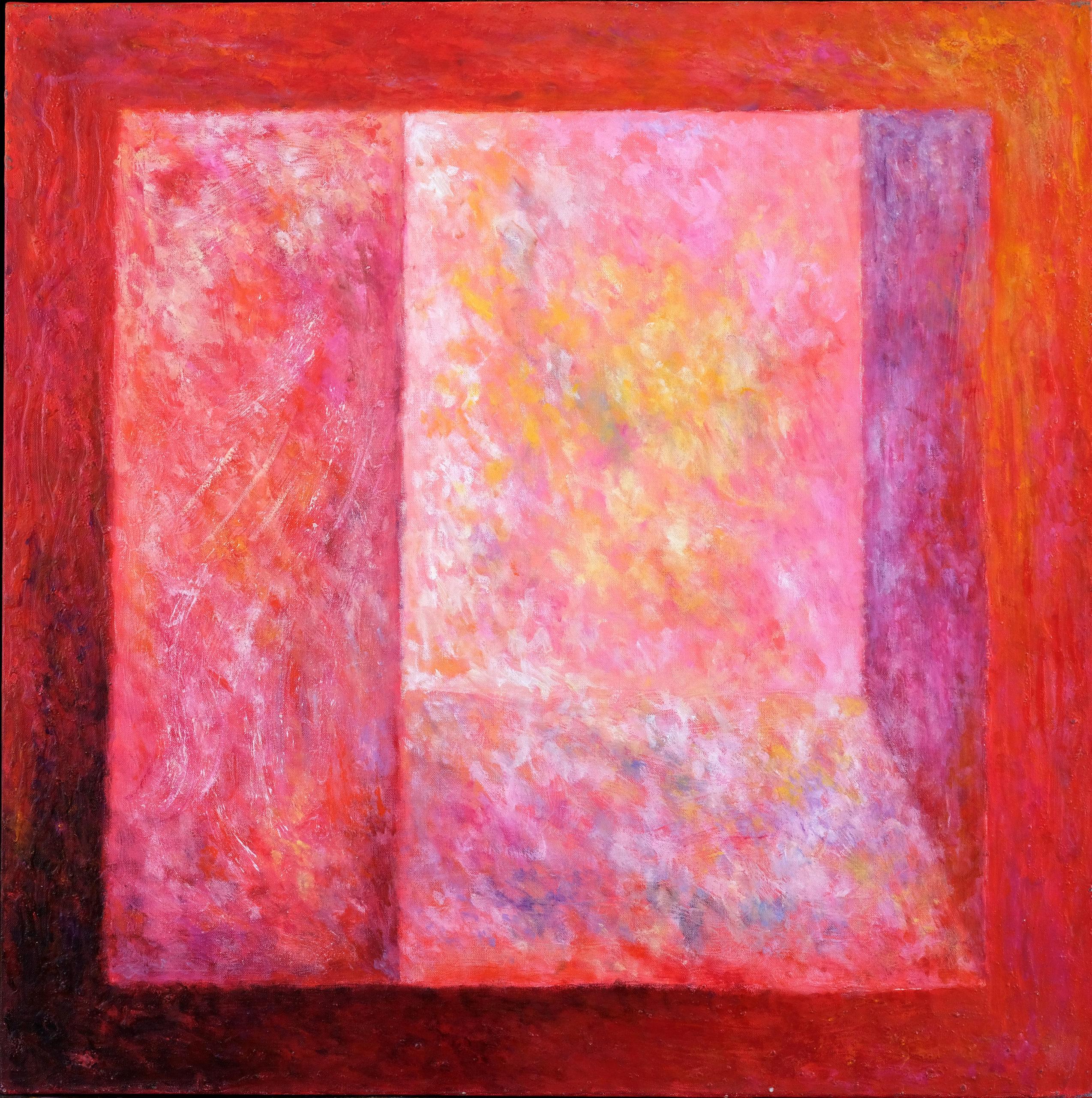 Fenêtre, huile sur toile 80 X 80 cm