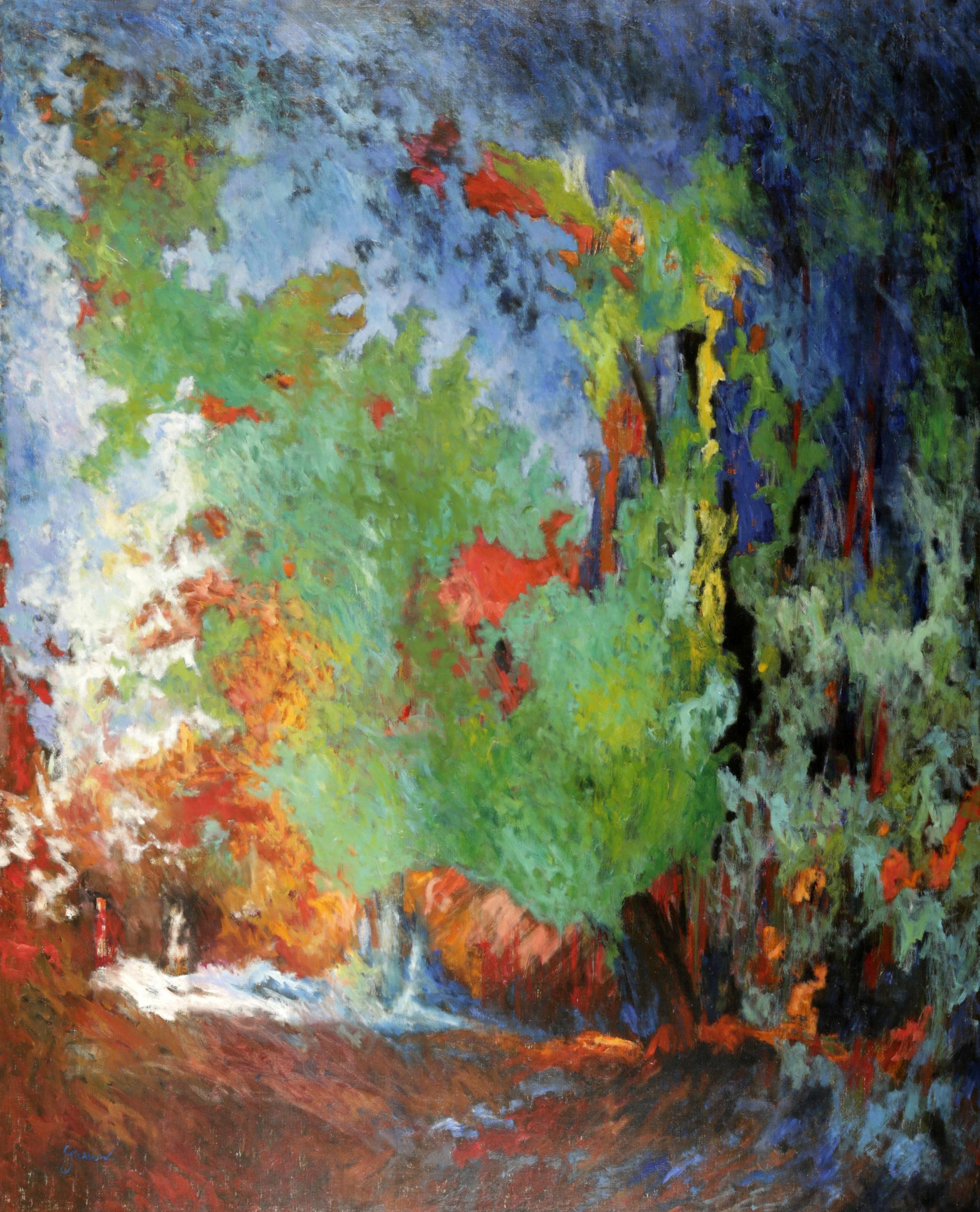 La forêt au poisson rouge, 1993, huile sur toile, 162 X 130 cm