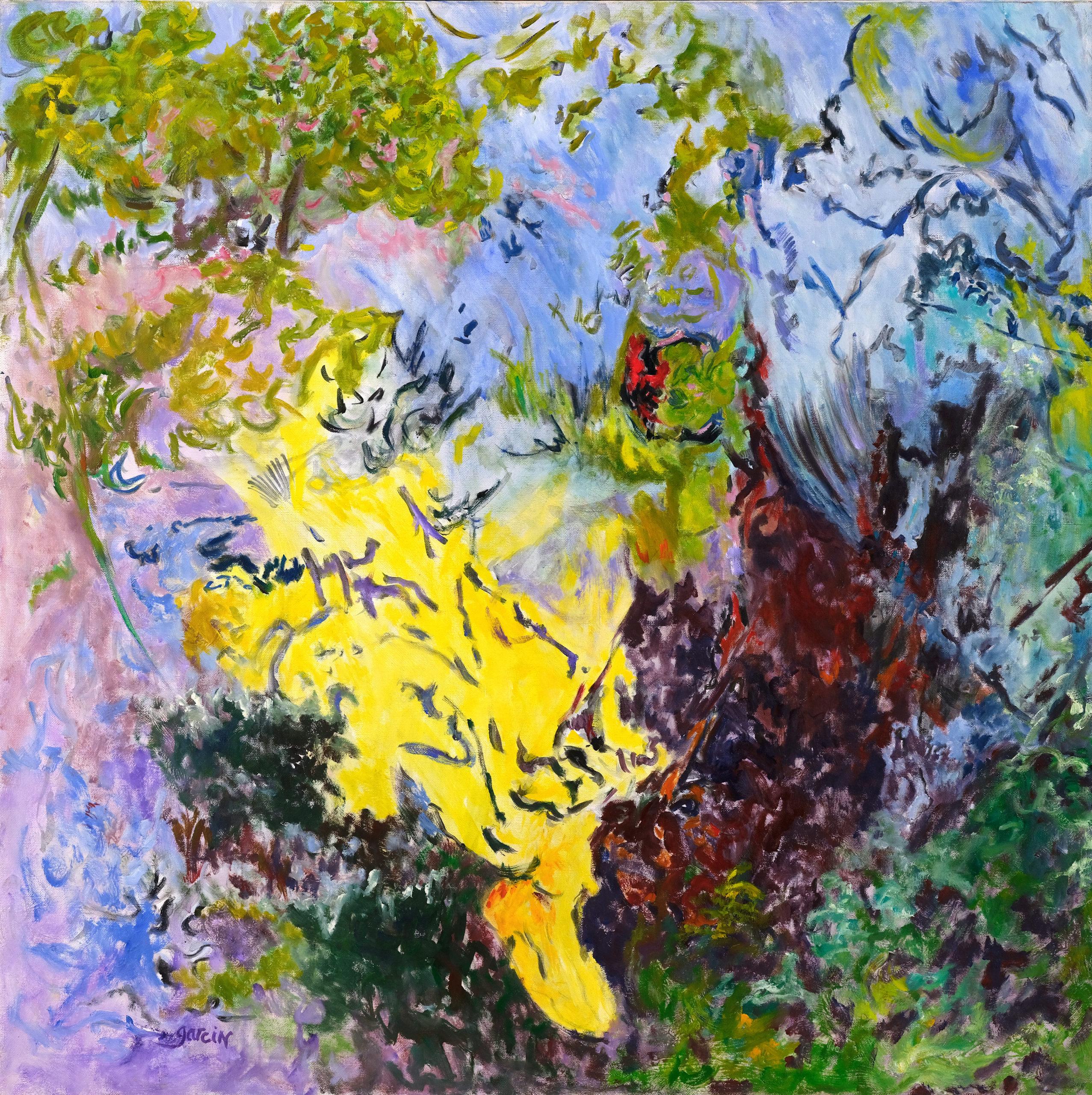 Paysage à la tache jaune, 2014 huile sur toile 80 X 80 cm