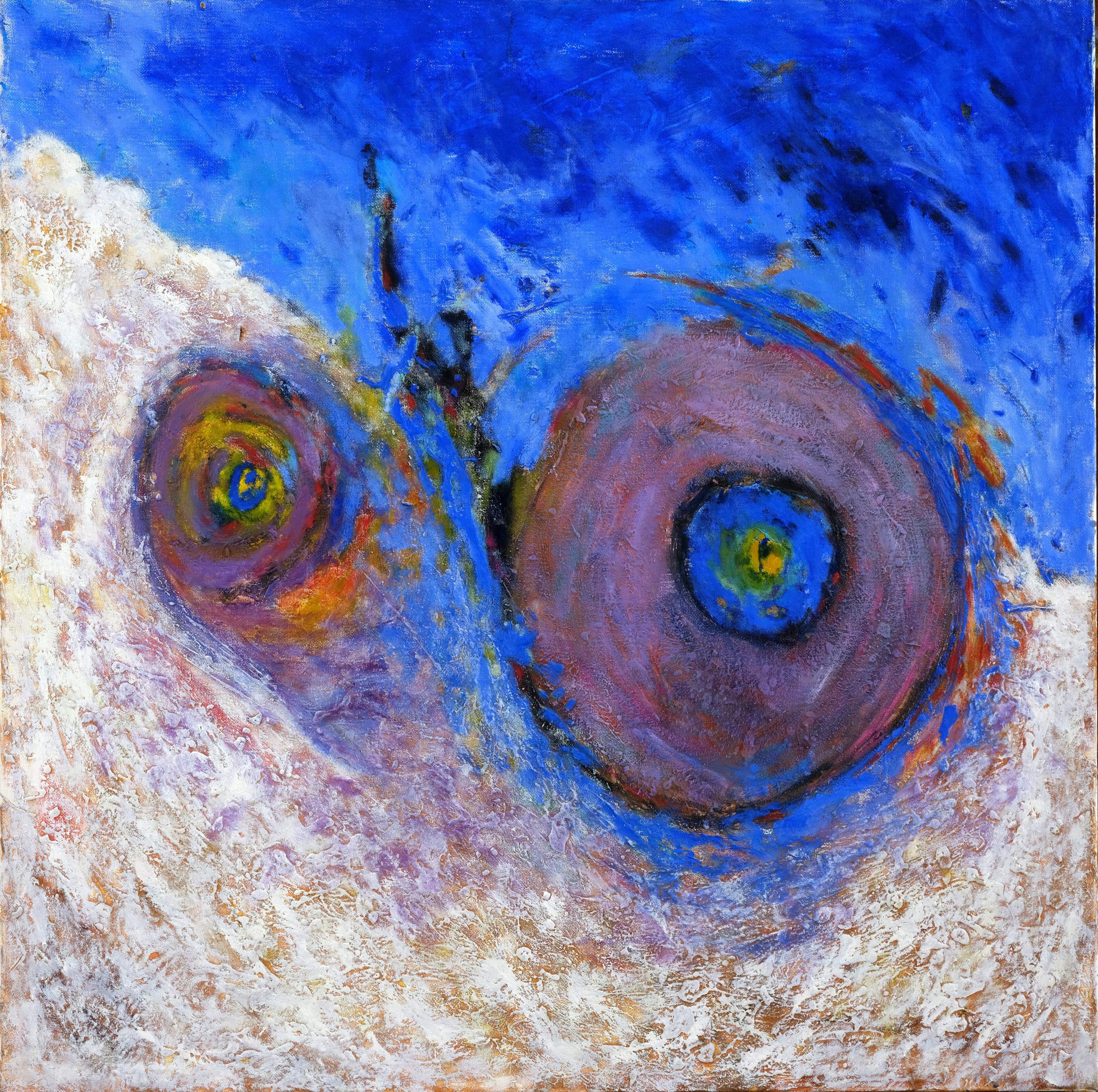 Sphères, 2001, huile sur toile 80X80 cm