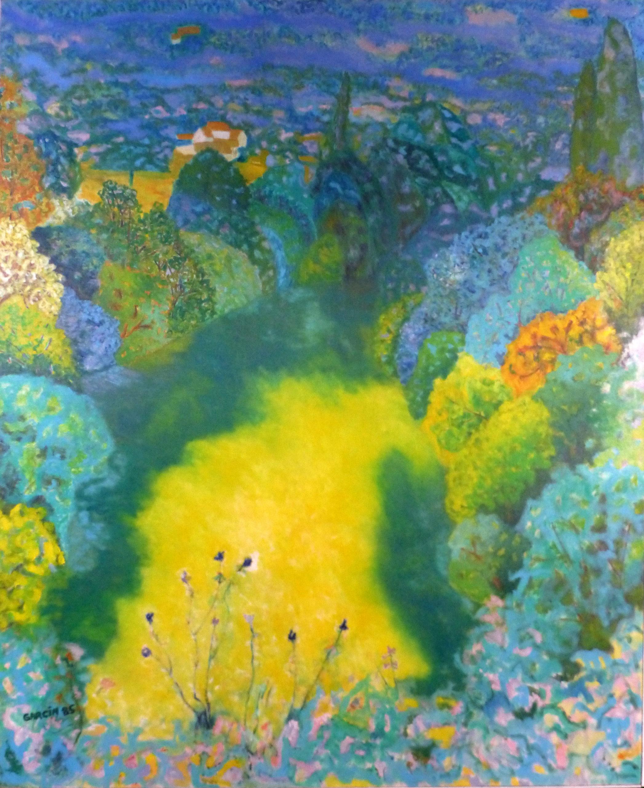 Dordogne, 1985, huile sur toile 162 X 130 cm