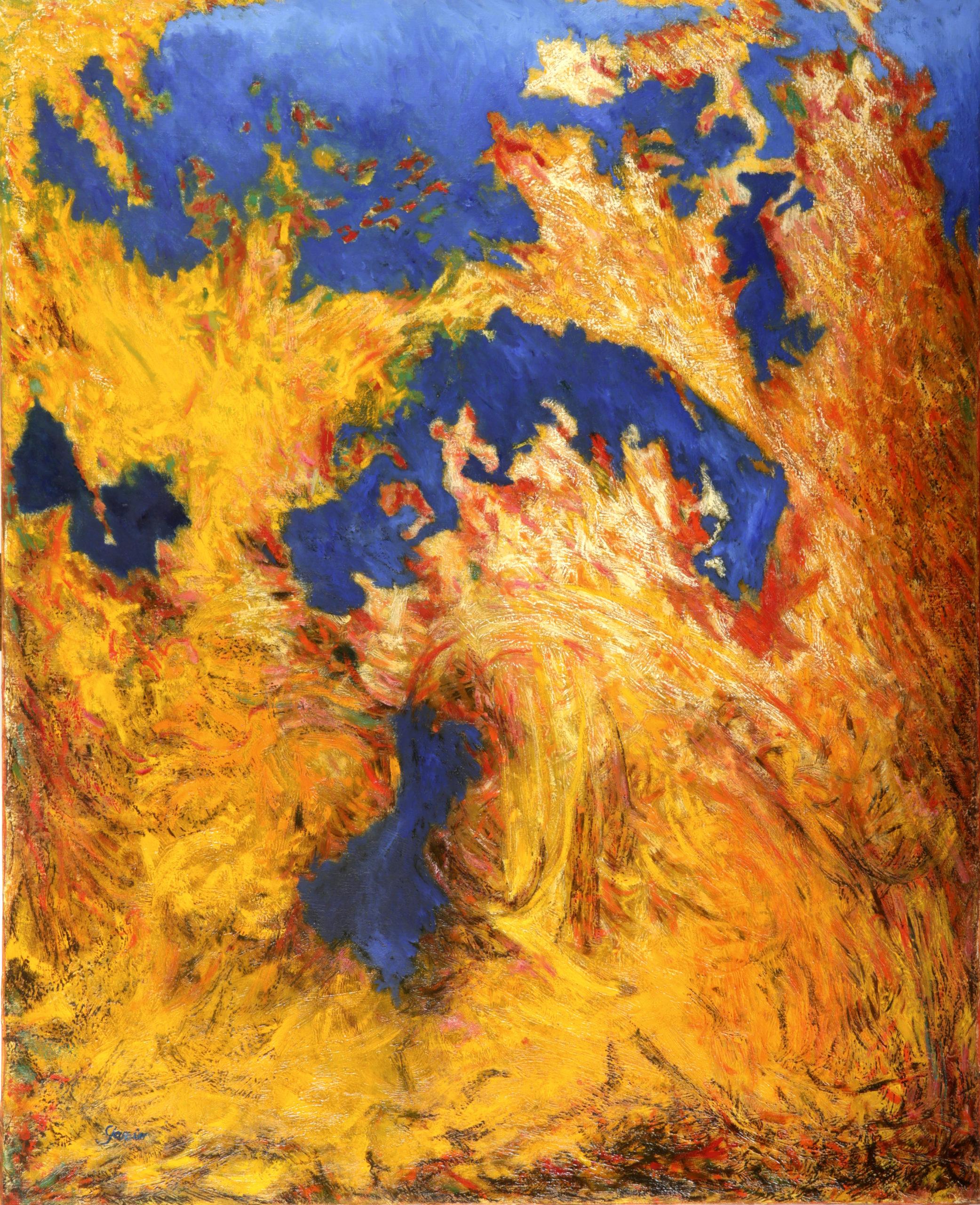 ETE 3, 1995, huile sur toile 100 X 81 cm