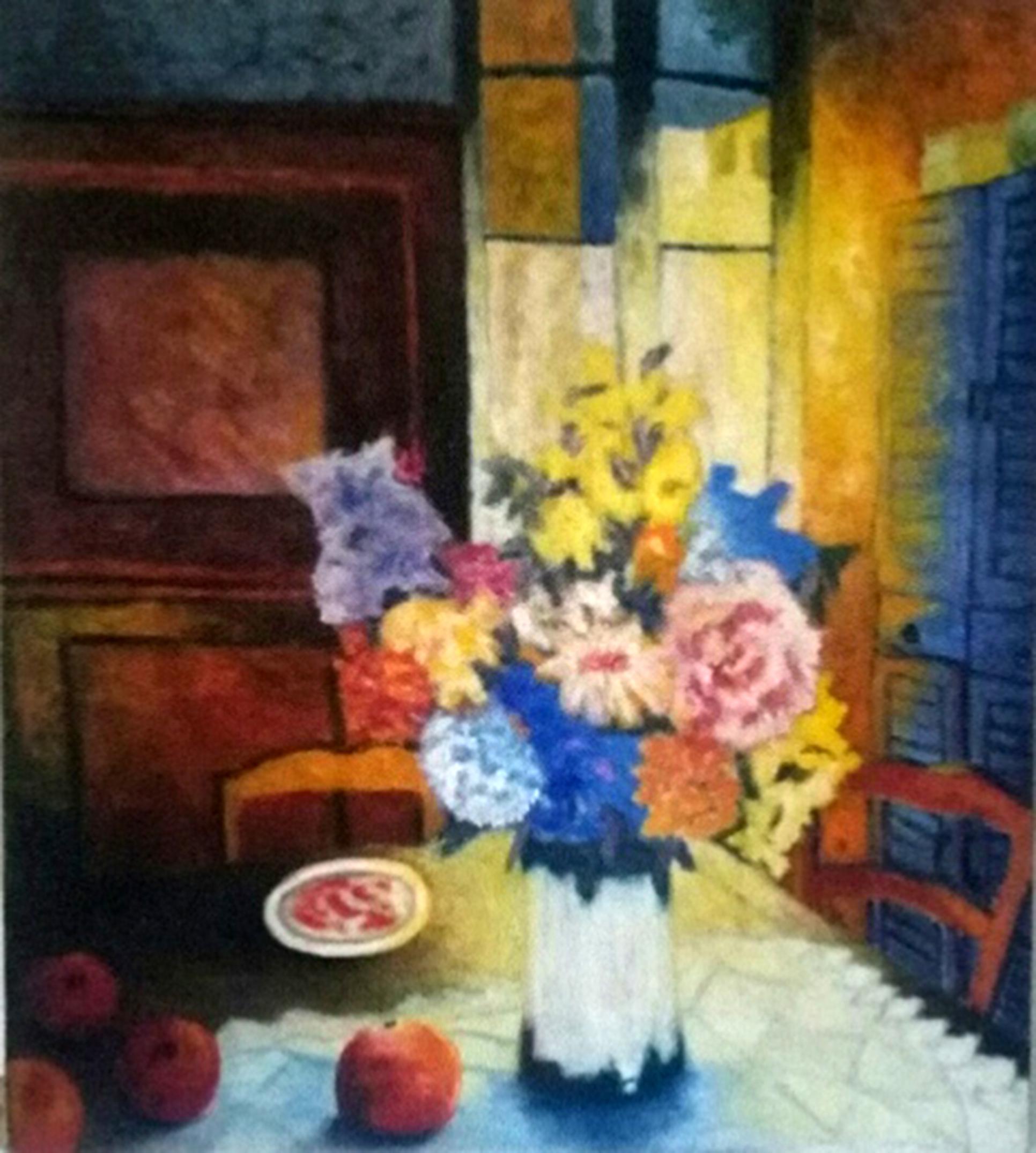 Le bouquet, huile sur toile  81X 65 cm