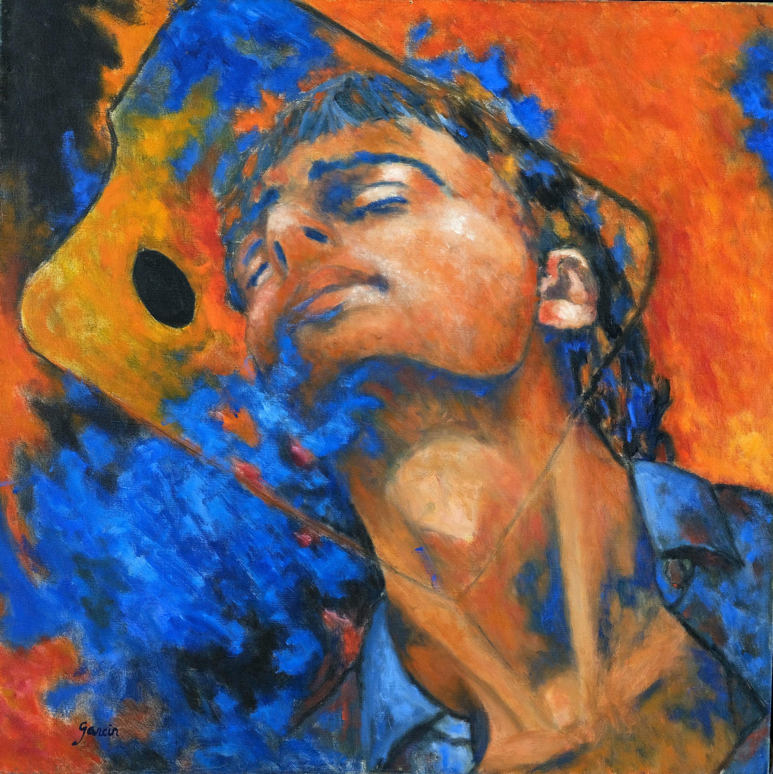 Rêves, autoportrait, 1994, huile sur toile 50 X 50 cm