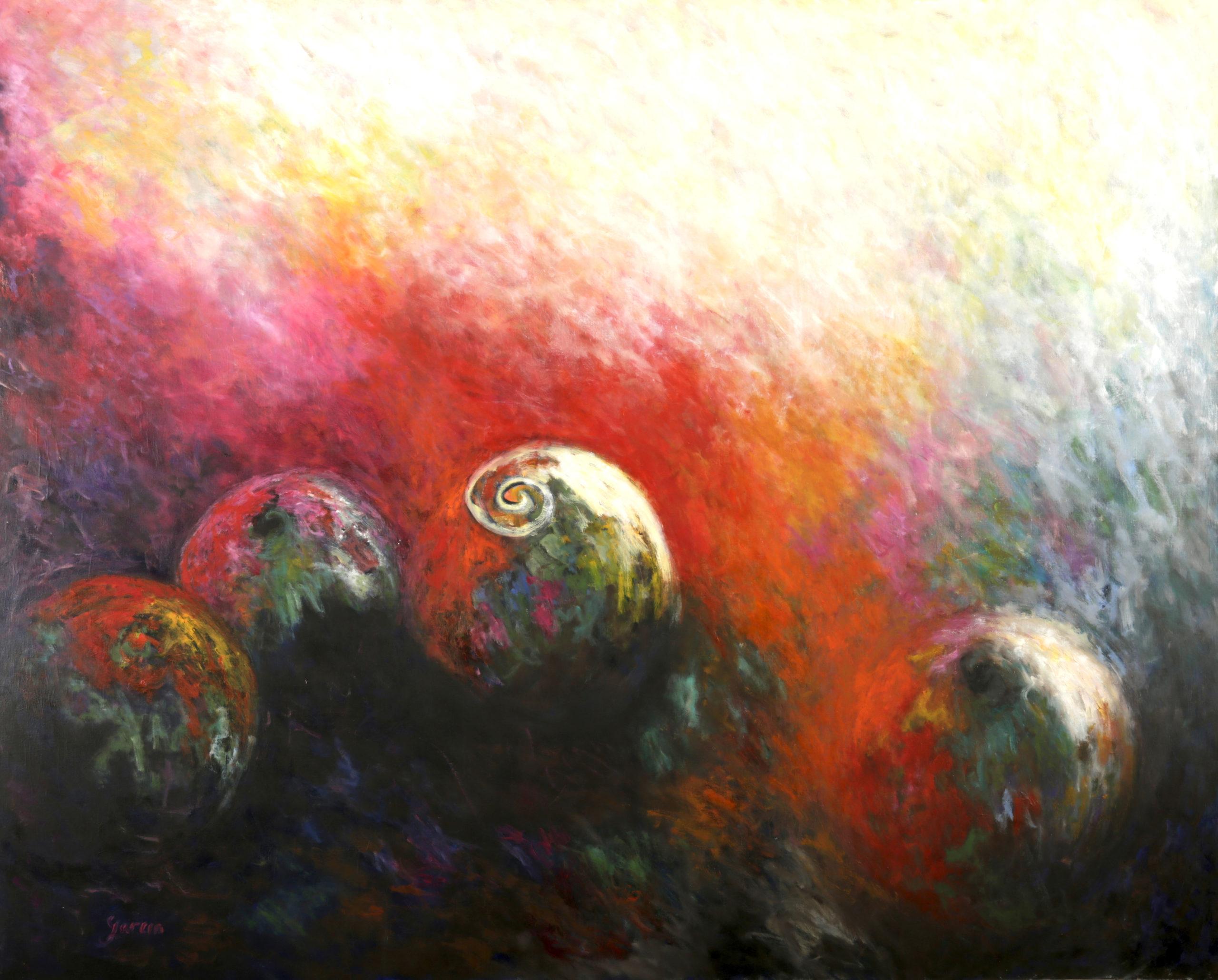 Spirale, huile sur toile 160 X 130 cm