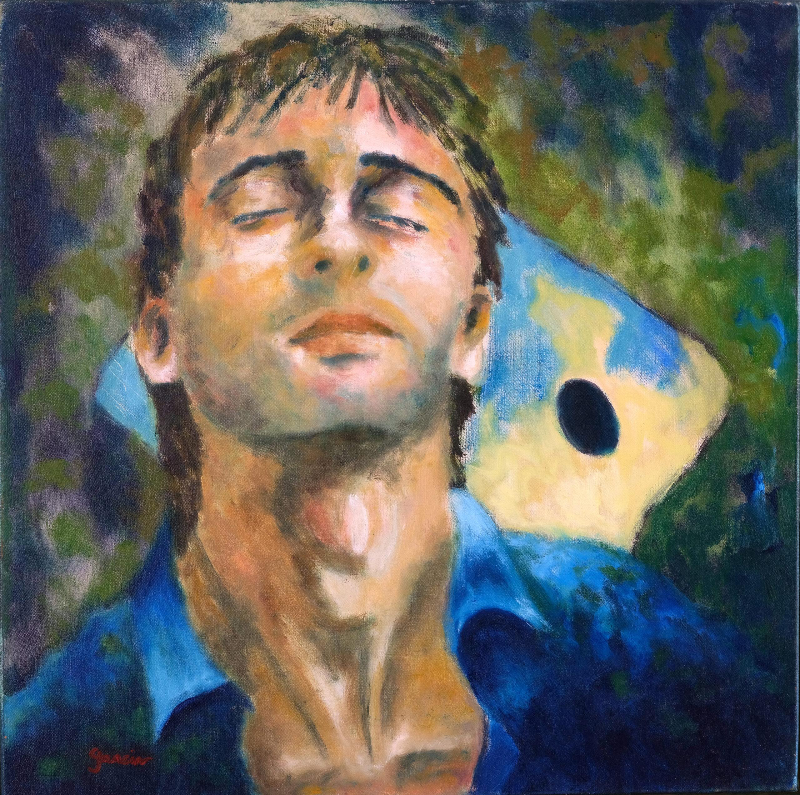 Autoportrait, 1995, huile sur toile 50 X 50 cm