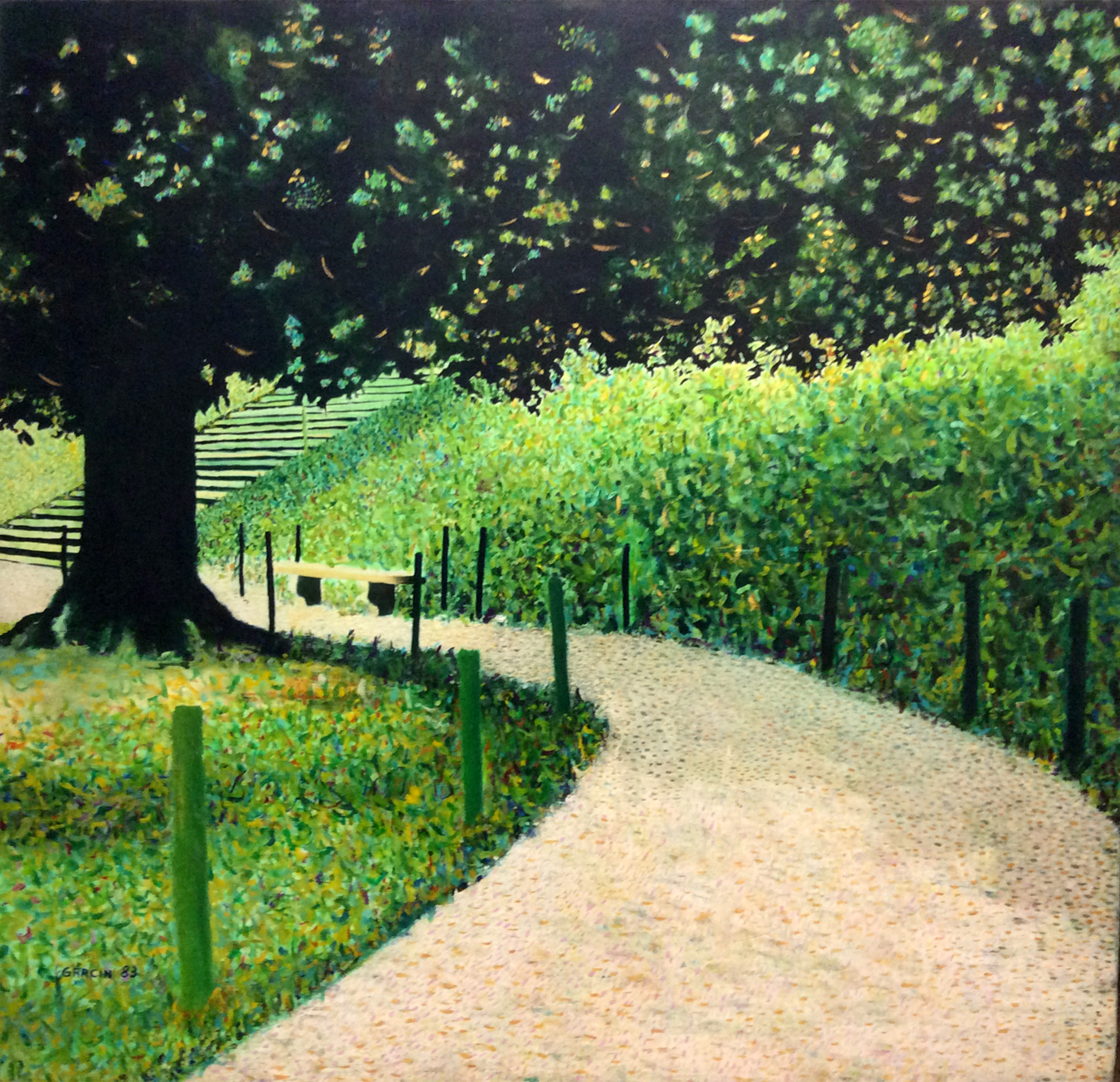 Jardin de Boboli, 1983, huile sur toile 100 X 100 cm