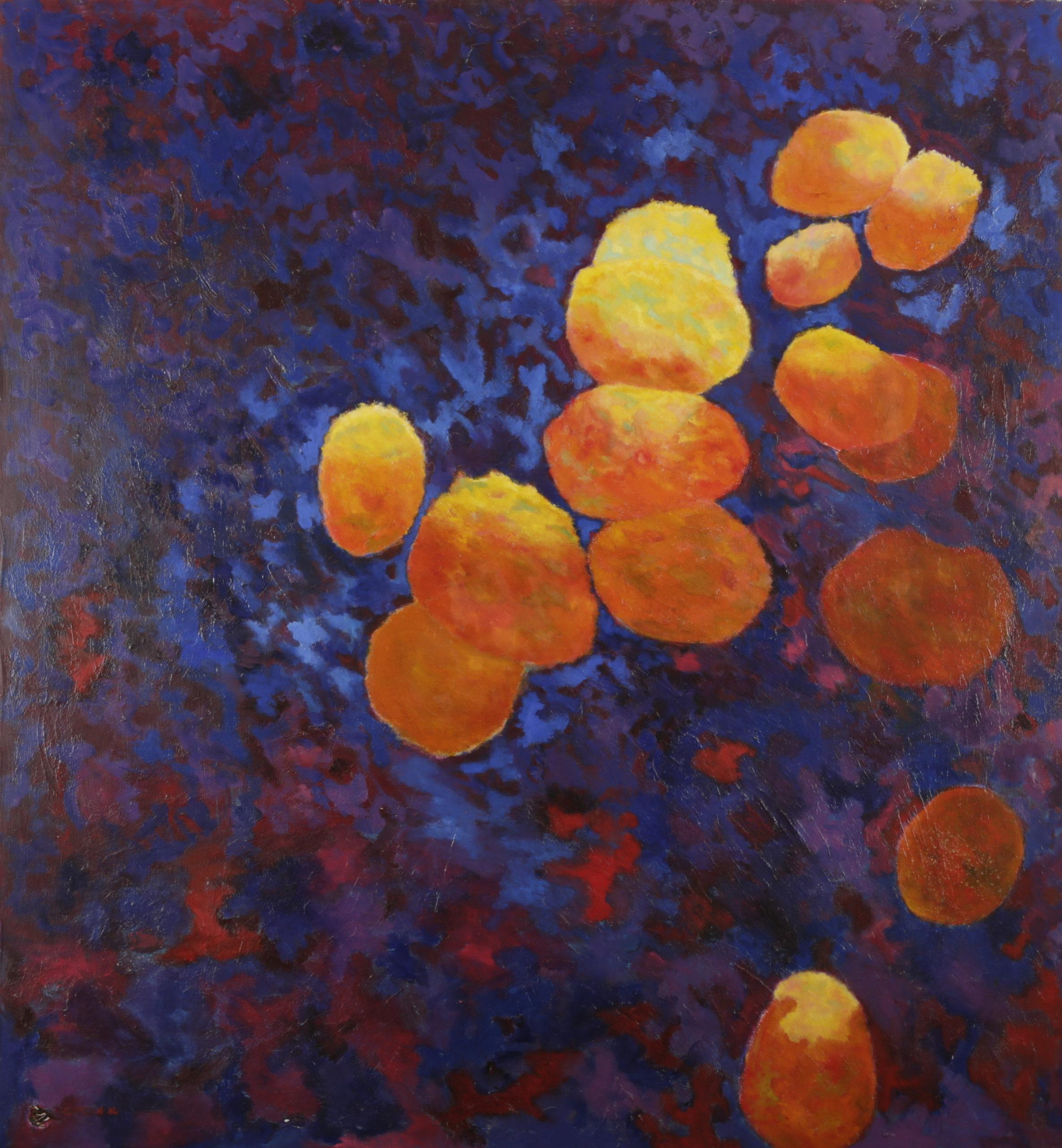 Papillon, 1984, huile sur toile 130 X 130 cm