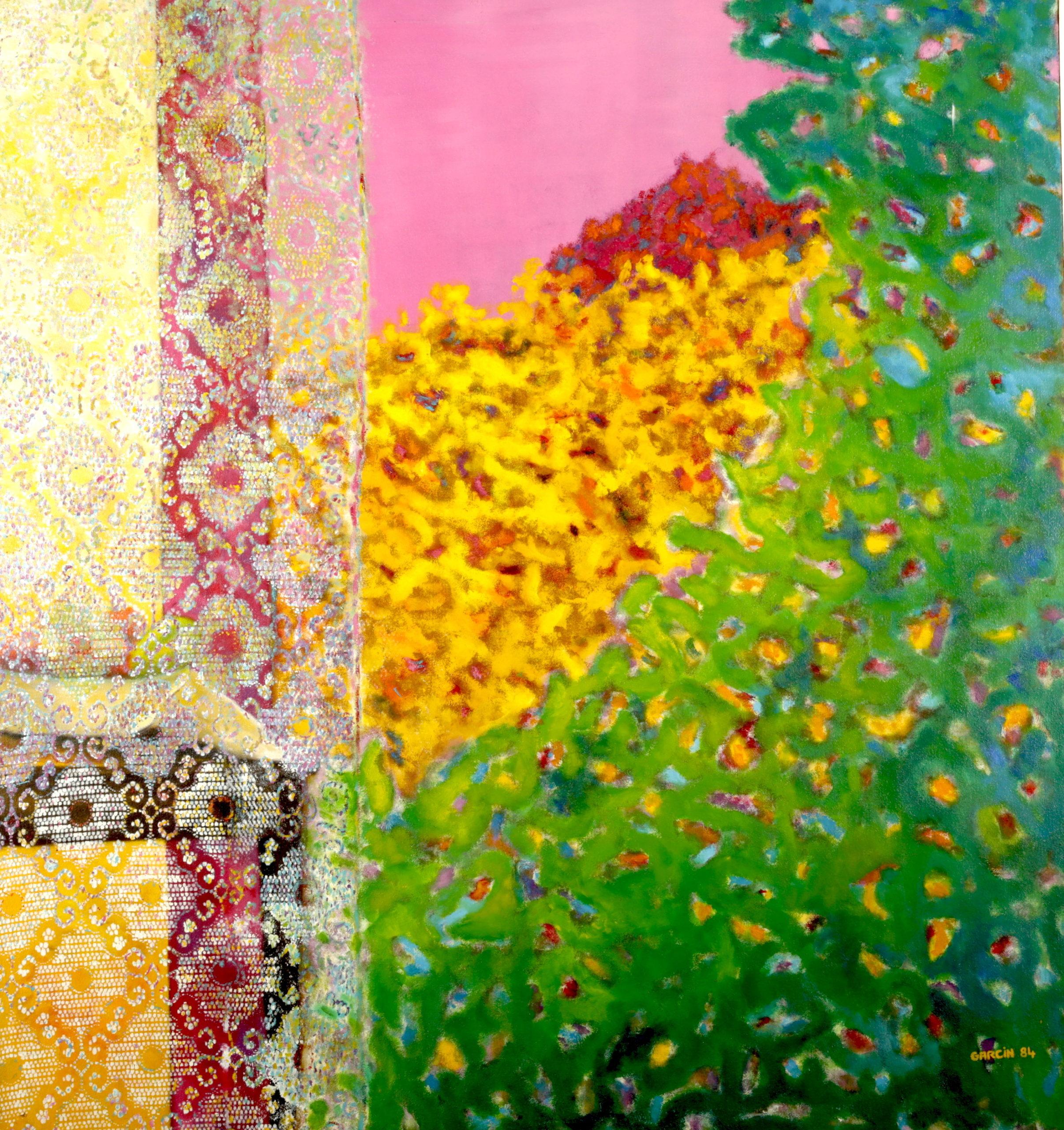 Rideau de dentelle, 1984, huile sur toile 130 X 130 cm