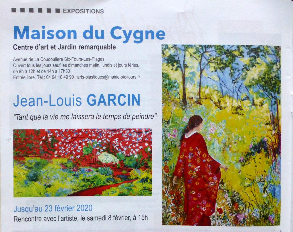 Exposition Maison du Cygne centre d'art, six Fours mag, février 2020.