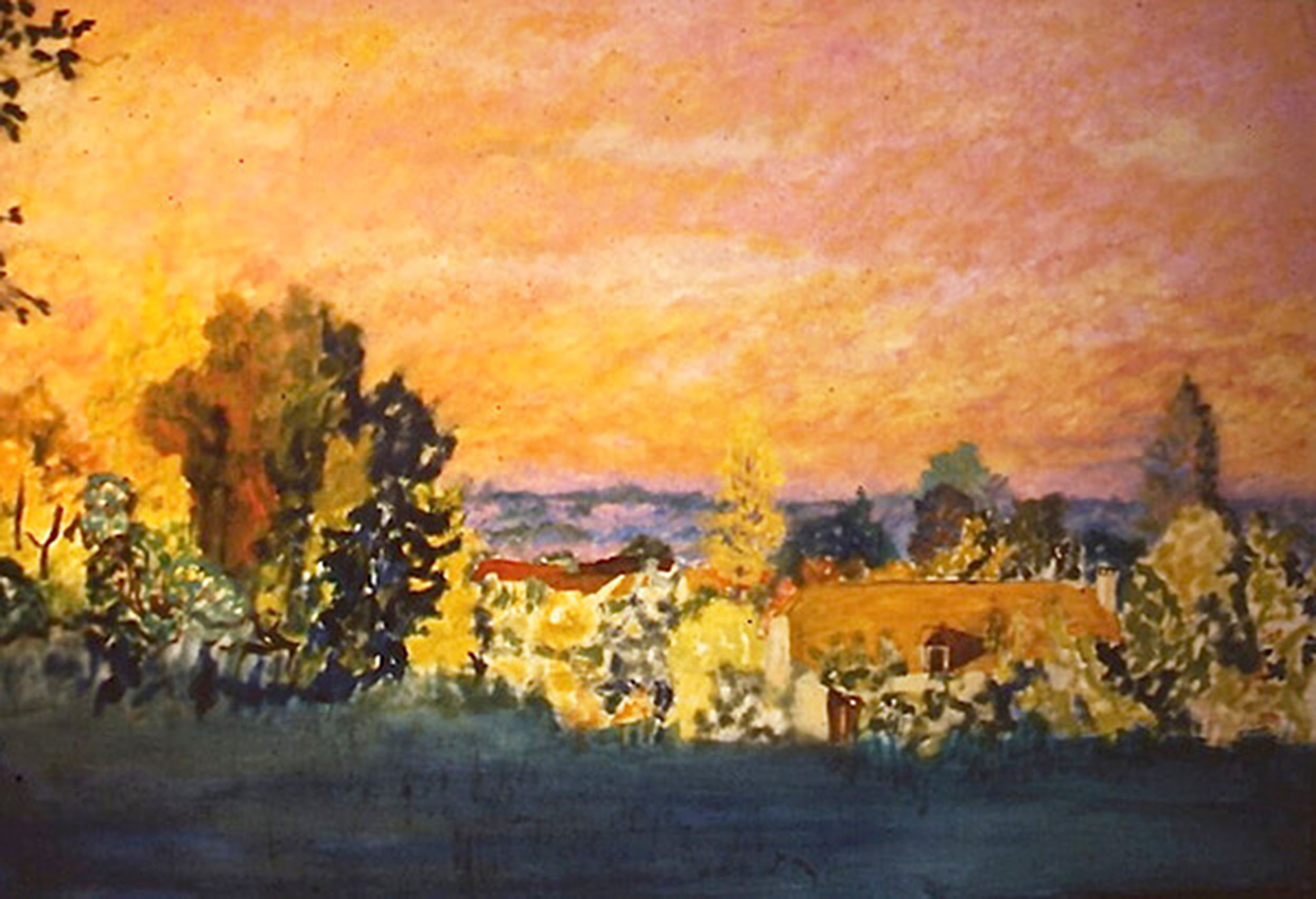 ombre et  lumière, huile sur toile 46 X 61 cm