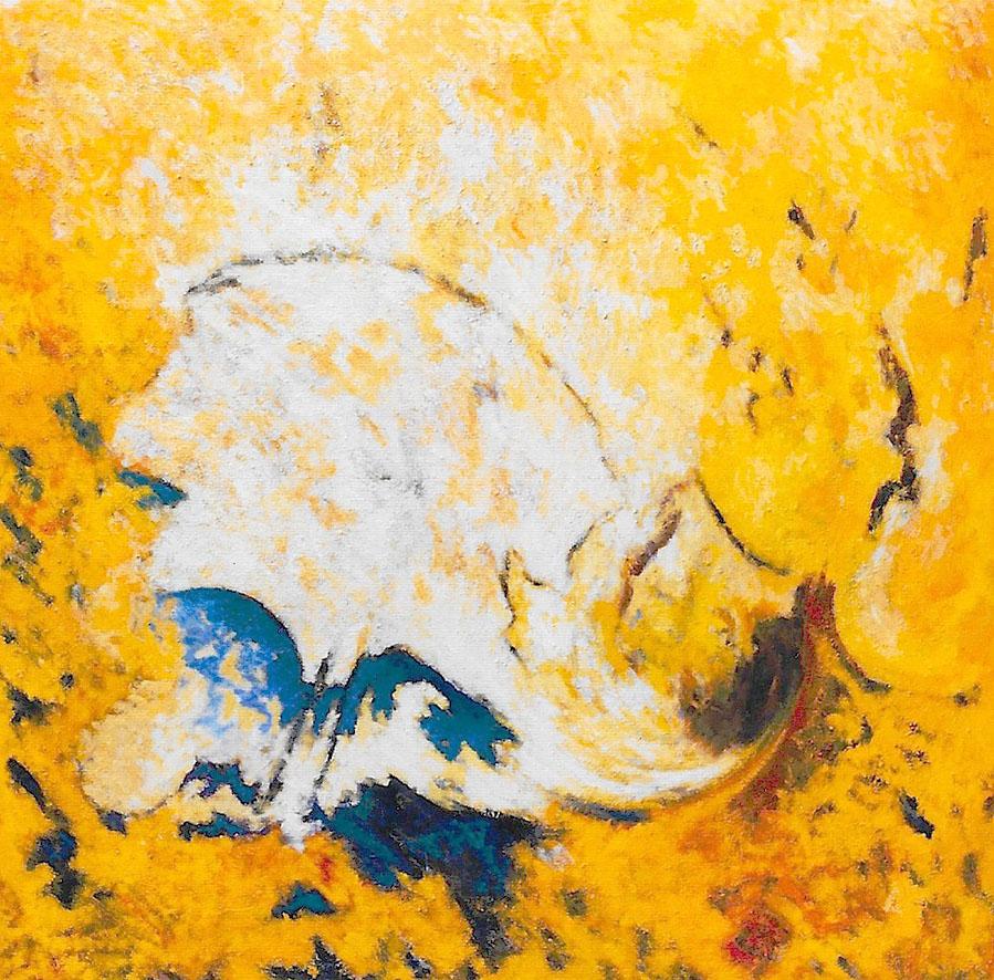 arbre blanc, huile sur toile, 200 X 200 cm
