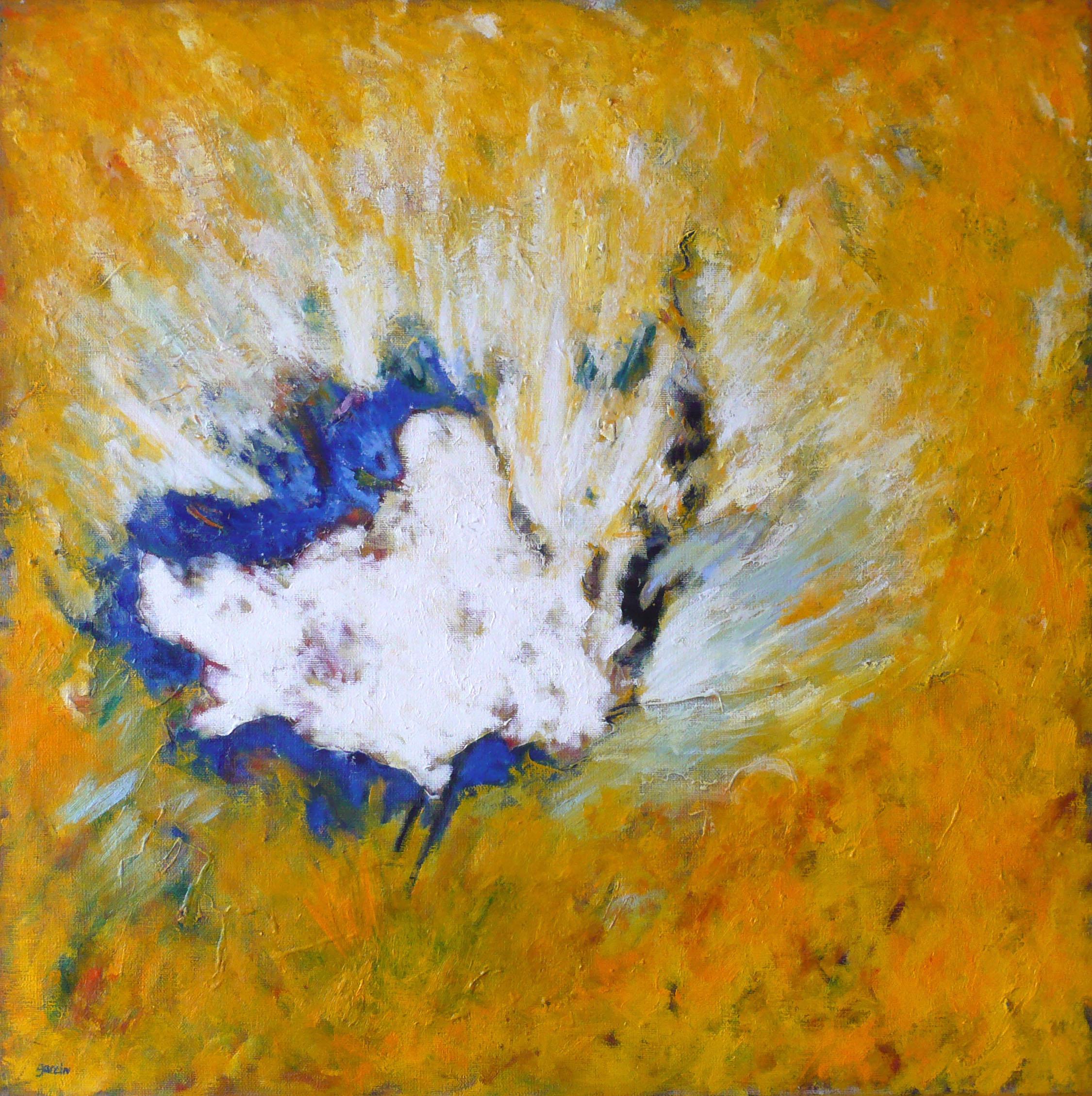 Arbre blanc 2, huile sur toile 80 X 80 cm